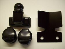 Towbar fitted Black Bumper Protector Plate & Standard Towball and Socket covers