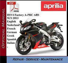 Aprilia RSV4 Factory A-PRC ABS M.Y.2013 Workshop Service Repair Manual