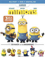 MINIONS Go Back to the Beginning Blu-ray Disc +DVD+ Digital HD + case & slipcase