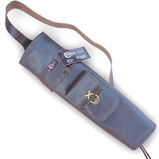 CAROL TRADITIONAL ARCHERY BACK LEATHER ARROW QUIVER AQ139F BROWN