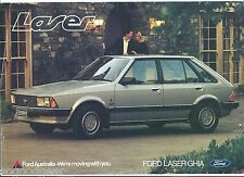 1981 FORD LASER GHIA SALES BROCHURE, double sided page