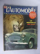 REVUE MENSUELLE L'AUTOMOBILE 2 MOIS DE L'ANNEE 1960 AVRIL ET AOUT
