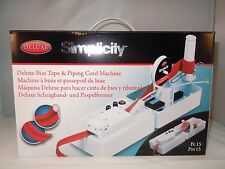 BIAS TAPE & PIPING CORD MACHINE BRAND NEW DELUXE SIMPLICITY