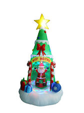 8 Foot Inflatable Christmas Tree with Santa Claus Yard Garden Lighted Decoration