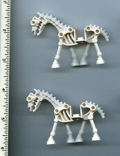 LEGO x 2 White Horse, Skeletal NEW Castle Fantasy Era Halloween 7090 7079 5372