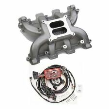 LS Cathedral Port Carb Conversion Holley 300-130 Dual Plane Intake/MSD 6010 Box