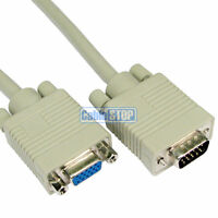10M SVGA VGA MONITOR EXTENSION CABLE LEAD MALE - FEMALE for PC LAPTOP PROJECTOR
