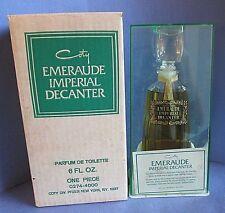 Coty Emeraude Imperial Decanter 1960's Parfum de Toilette 6 oz Vintage in Box