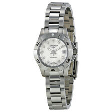 Longines Hydro Conquest Mother of Pearl Diamond Dial Steel Ladies Watch