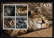 Tanzania 2013 MNH Cats Our Furry Companions 4v M/S II Pets Animals Stamps