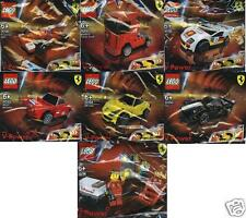 7x LEGO FERRARI SHELL V-Power Sets komplett 30190 bis 30196