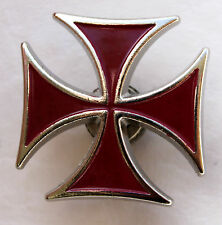 Biker Chopper Iron Cross Black snap Button Croix de fer bouton-poussoir Bouton rouge