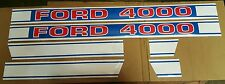 New Ford 4000 Tractor Hood Decal Kit 1968 & Up