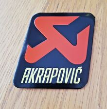 AKRAPOVIC CAR MOTORCYCLE EXHAUST  BADGE EMBLEM DECAL LOGO STICKER