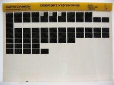Honda CR80R 1990 1991 1992 1993 1994 1995 Parts List Catalog Microfiche a730