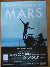 THIRTY SECONDS TO MARS 2014    -  orig.Concert Poster  --  Konzert Plakat   NEU