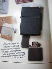 Zippo Black Crackle D-Day Band of Brothers Re-enactor Ed. CBI USAF WWII WK2 OVP
