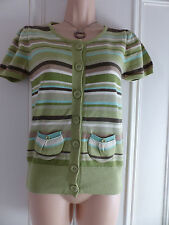 Lovely green striped cardigan from Next in a size 10, short sleeved, thin knit