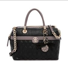 NWT Guess Black Multi Merci Large Box Satchel