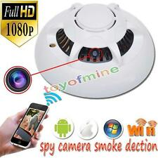 HD 1080p WiFi Spy Camera Hidden Smoke Detector Motion Detection Nanny Cam DVR TR