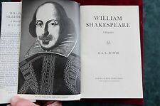 WILLIAM SHAKESPEARE BY A. L. ROWSE  BIOGRAPHY 1963