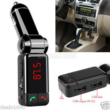 LCD Bluetooth Car Kit FM Transmitter MP3 Dual USB Charger Handsfree For iPhone