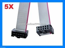 10 Pc of 10 Wire FRC Flat Ribbon Cable Length 12 Inch,30 cm for Electronic Board