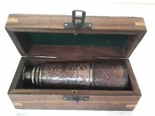 "NAUTICAL TELESCOPE ANTIQUE BRASS SPYGLASS VINTAGE 16"" PIRATE Scope MONOCULAR New"