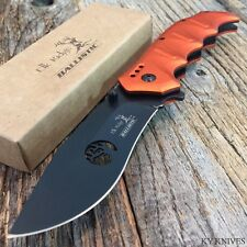 "ELK RIDGE Ballistic 8"" Tactical Spring Assisted Open Folding Pocket Knife ORANGE"