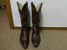 VTG JUSTIN BILLY MARTIN'S BOOTS SZ 11D MEN LEATHER WESTERN RIDING EQUESTRIAN 90S