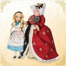 NIB Disney Alice in Wonderland Queen of Hearts Doll Set of 2 Fairytale Designer