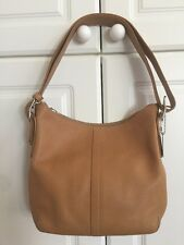 Coach Authentic Camel Carmel British Tan Convertible Shoulder Hobo Handbag