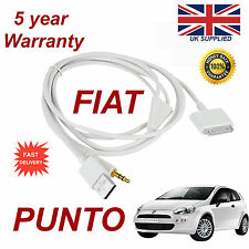 Fiat PUNTO For Apple iphone 3gs 4 4s iPhone iPod USB 3.5mm Aux audio Cable white