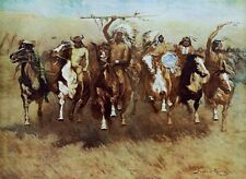 Victory Dance by Frederic Remington Native American Indians Western Canvas 24x32