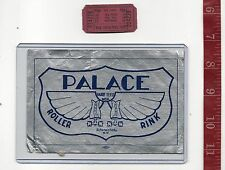vintage lot roller rink decal Palace Schenectady N.Y. & ticket FREE SHIPPING