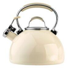Jug Kettle Prestige Porcelain Enamel Crystal New Tea Pot Cup Beige Whistling Pro