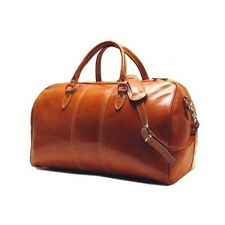 Weekender Bag Leather Italian Travel Duffel Carry On Luxury Overnight Cruise