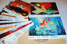 LA PETITE SIRENE  ! w disney jeu 12 photos cinema lobby cards animation
