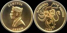 Zamunda 5 pounds 1988 (gold plated)
