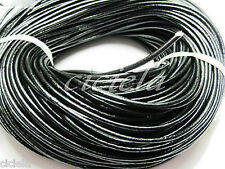 5M Solid Real Leather Rope String Cord Necklace For Jewelry Finding 1.5/2mm