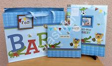 3 pcs CR Gibson Baby Boy All Star Keepsake Book + Recordable Photo Album + Bag