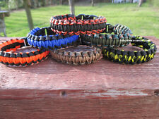 Paracord Bracciale Bracelet OUTDOOR TREKKING SURVIVAL KIT Army campeggio surf