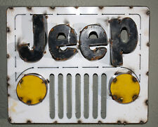 Recycled Tin Metal JEEP Sign Gas Oil Garage Man Cave Home Decor 4 X 4