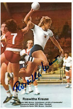 Roswitha Krause (DDR) 2.OS 1976 Montreal Handball original signiert/signed !!
