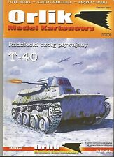 1:25 Soviet WW II tank T-40   paper model