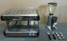 Conti CC100 CC102 TC Tall Cup Two Group Commercial Coffee Machine + Grinder