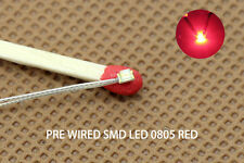 T0805R 20pcs Pre-soldered micro litz wired leads RED SMD Led 0805 NEW