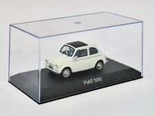 Atlas HA14 - Fiat 500 Suicide Door 1960's White 1/43 Scale On Plynth in Case T48