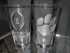 2017 COLLEGE FOOTBALL PLAYOFF CONTENDER CLEMSON TIGERS ETCHED 2 PINTS