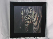 "Zebra Up Close Portrait Art Poster Print 12 X 12""-Here's Lokking at You!"""